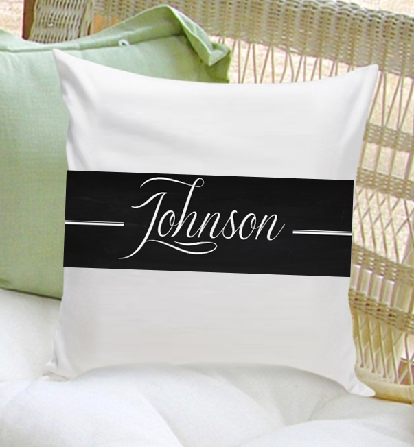elegant personalized throw pillow