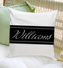 script personalized throw pillow