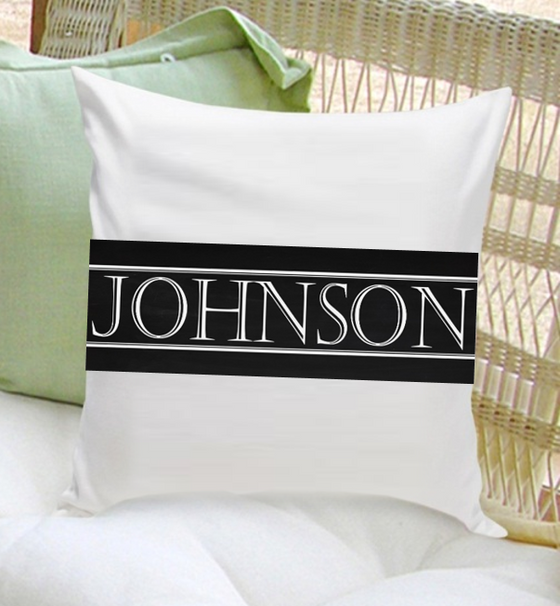 classic personalized throw pillow