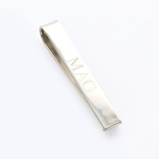 Sterling Silver Personalized Tie Clip