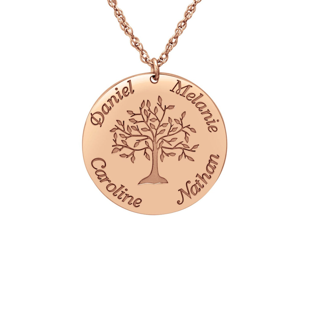 Personalized Tree of Life Mothers Necklace 2