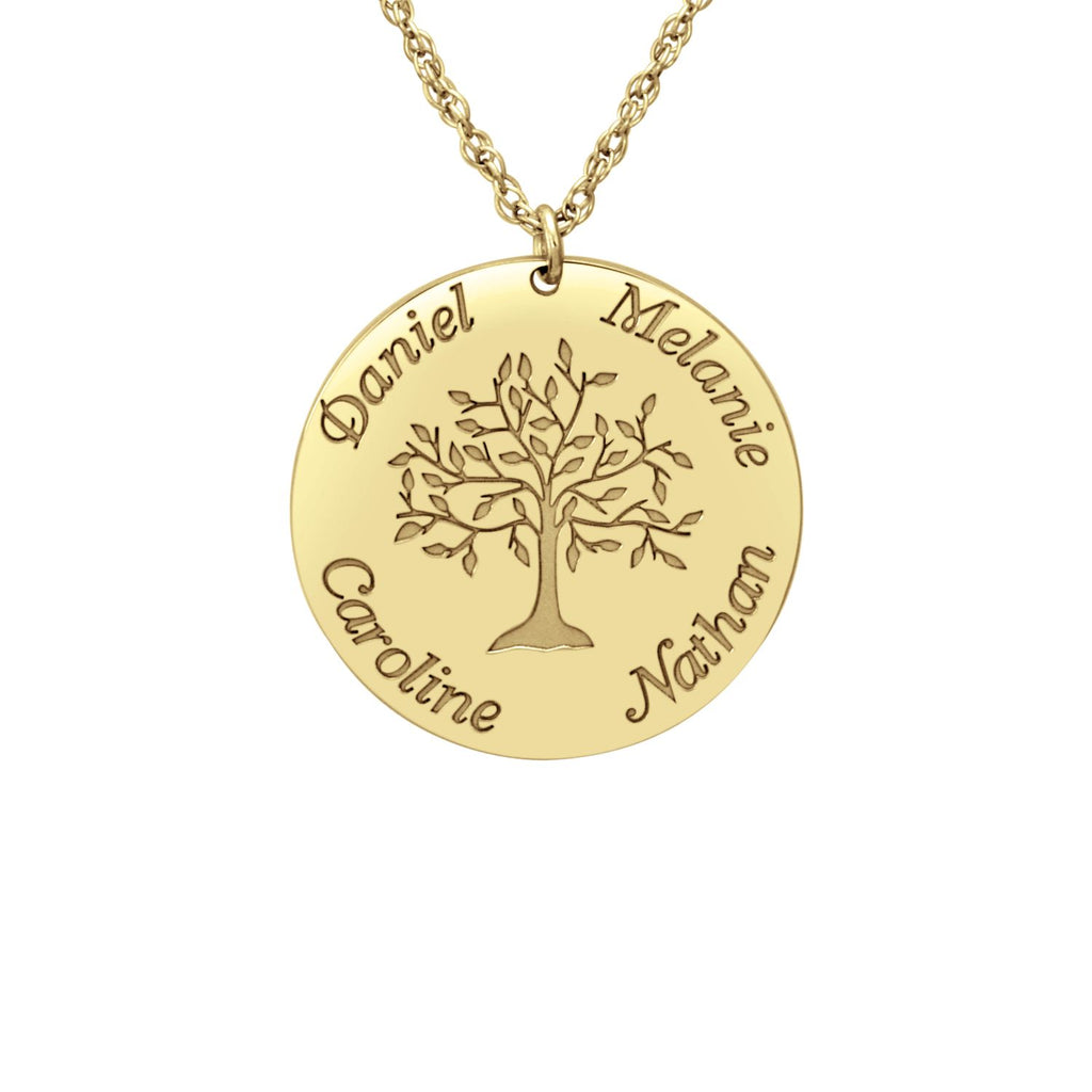 Personalized Tree of Life Mothers Necklace