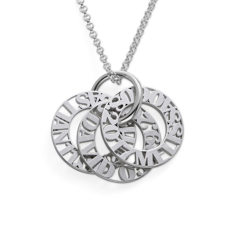 Mother's Name and Birth Date Token Necklace - 1-5 Discs 3