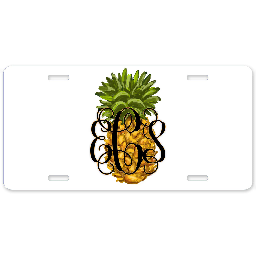 Personalized Car Tag License Plate - Pineapple