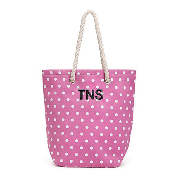 Monogram Cabana Beach Tote Bag - Pink