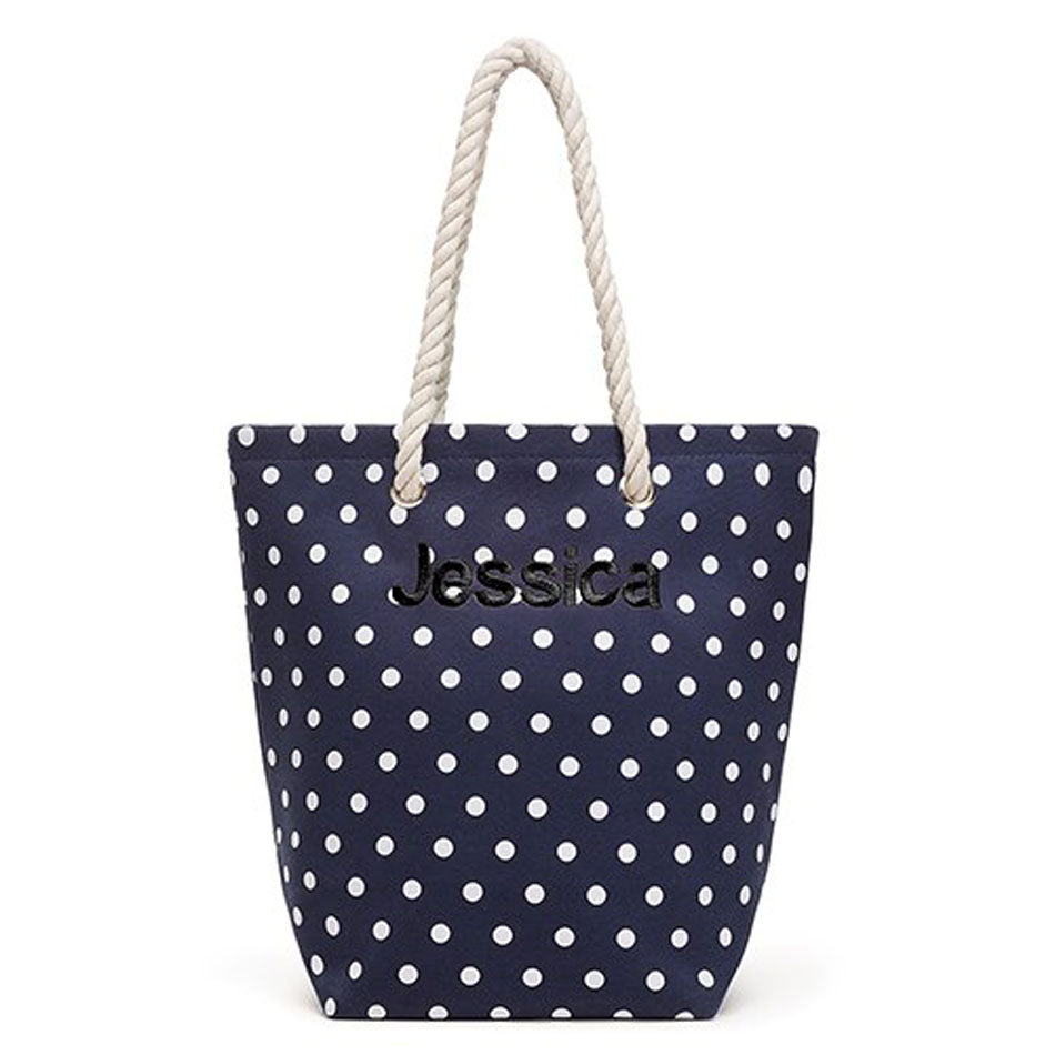 Monogram Cabana Beach Tote Bag - Navy