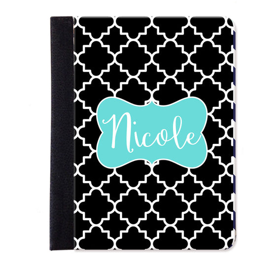 Monogram Folio iPad Case - Quatrefoil
