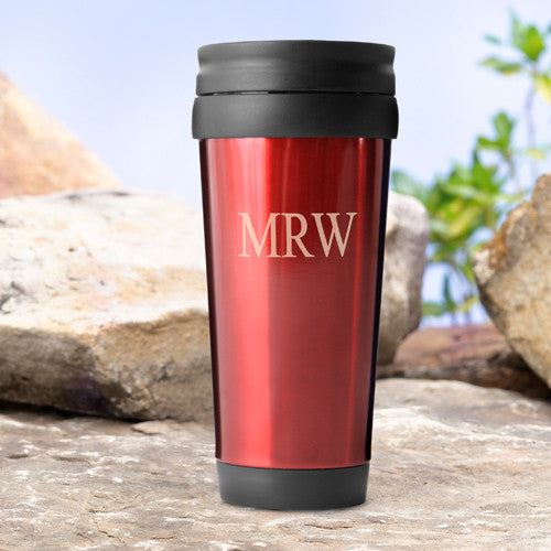 Personalized Travel Tumbler Red