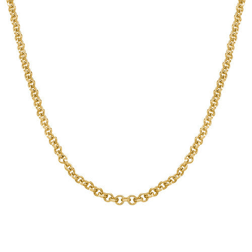 gold plated rolo chain