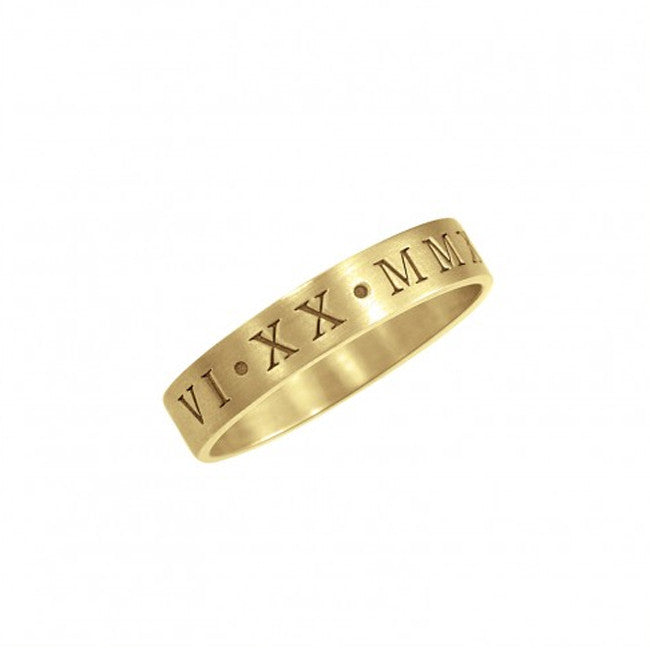Engraved Roman Numeral Ring