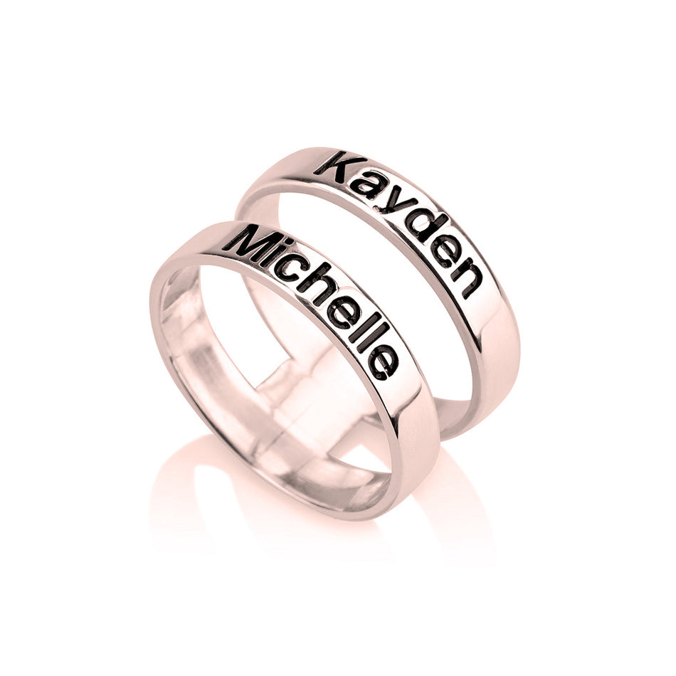 two name engraved gold ring 2