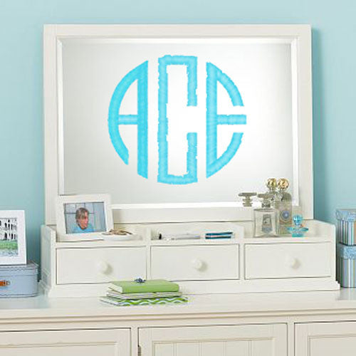 Round Wall Monogram Decal