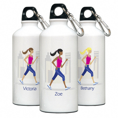 Personalized Water Bottle Runner Gal