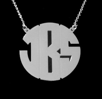 Sterling Silver Monogram Necklace Michelle Money Bachelor In Paradise Alternate 1
