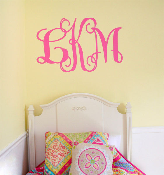 Script Wall Monogram Decal