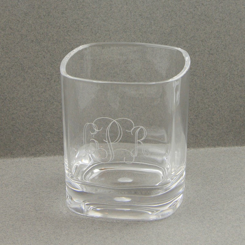 Monogrammed Acrylic Glass - Short