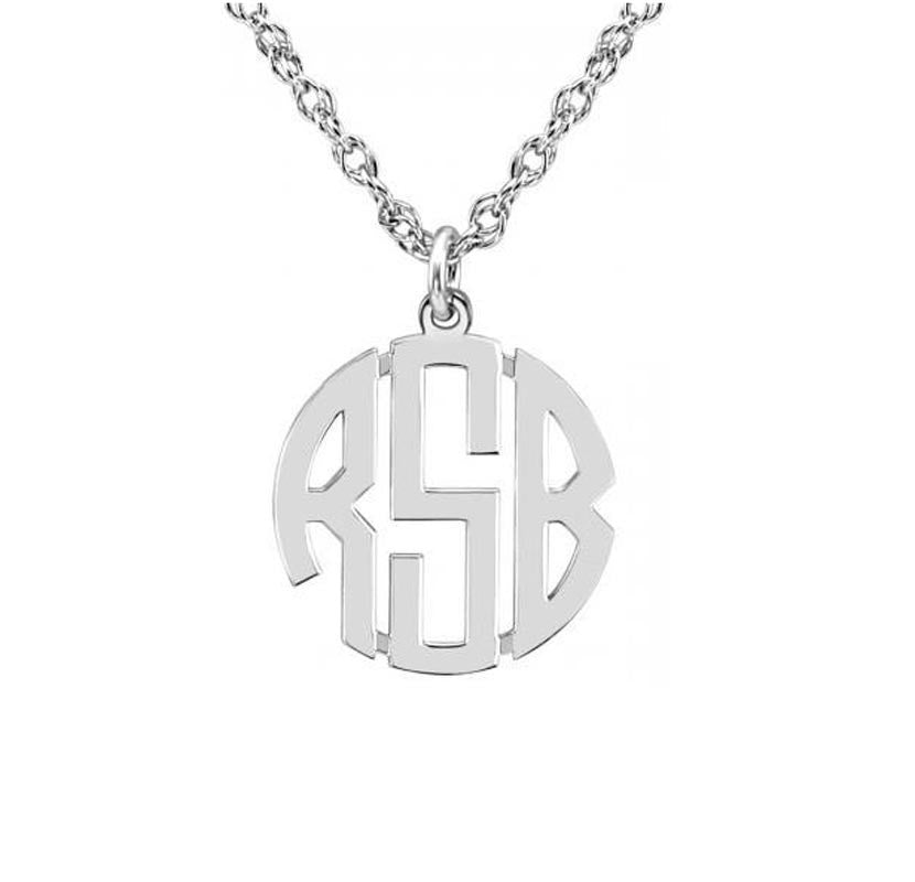 Block Mini Monogram Necklace 2