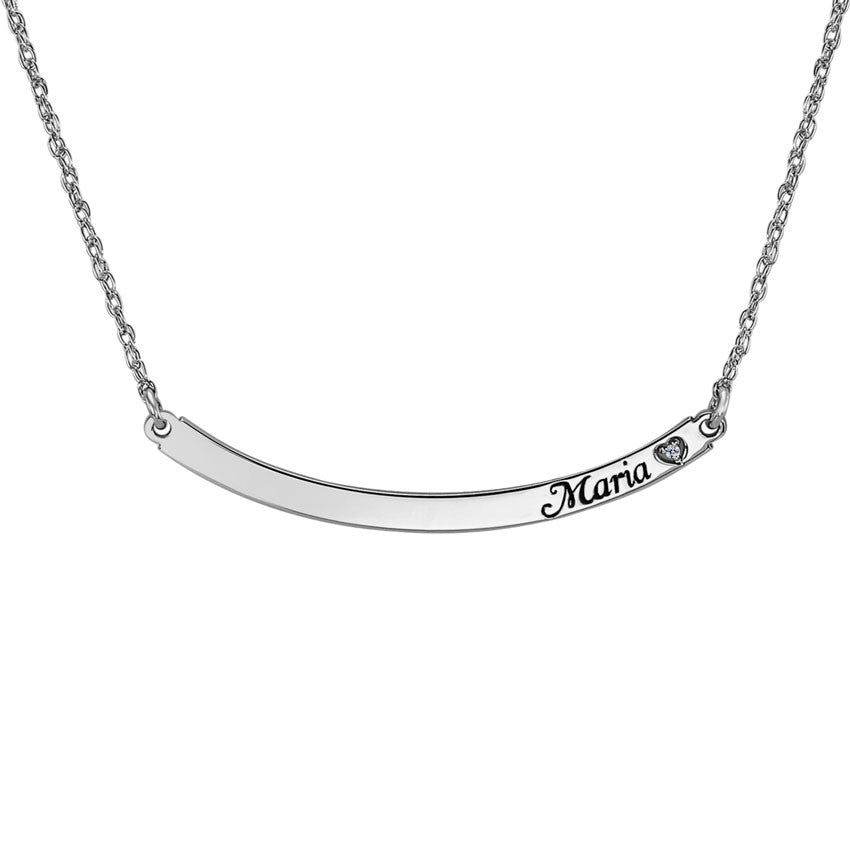 Personalized Curved Bar Necklace with Diamond.jpg