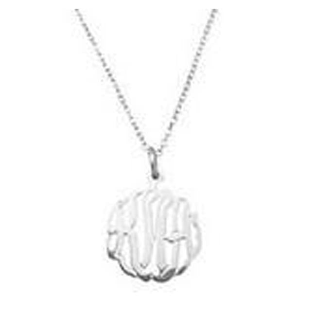 Silver Mini Monogram Necklace