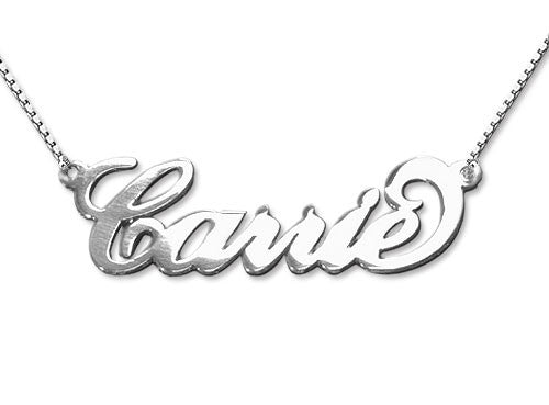 Sterling Silver Nameplate Necklace Carrie Necklace