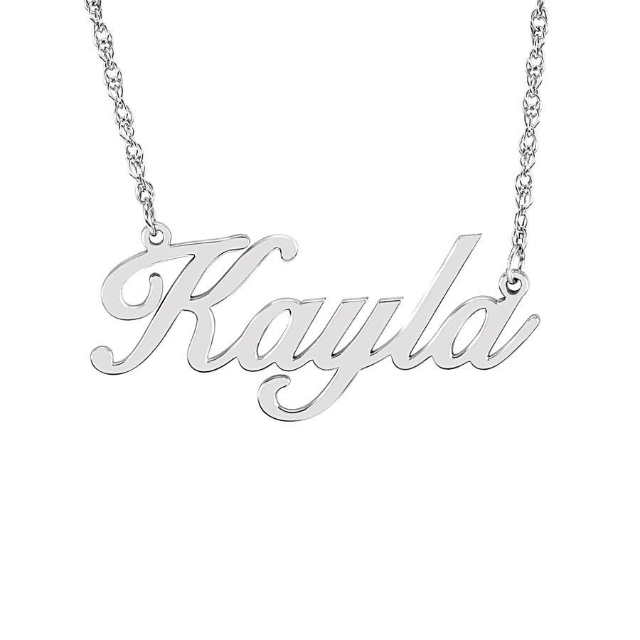 Elegant Nameplate Necklace