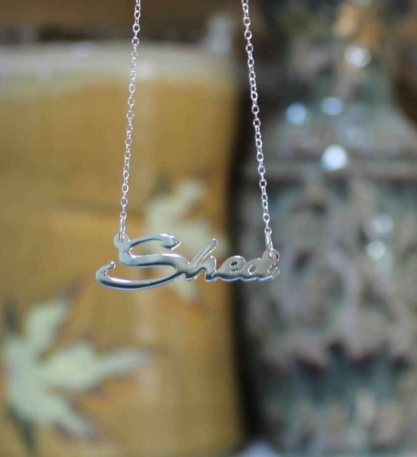 sterling silver nameplate necklace