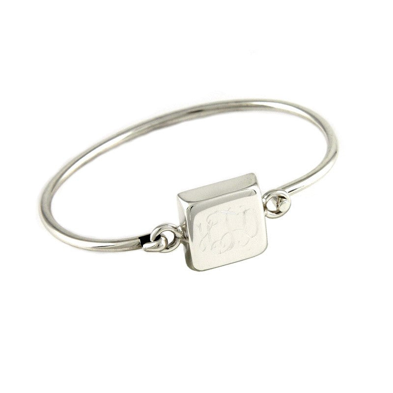 Personalized Square Sterling Silver Bracelet 2