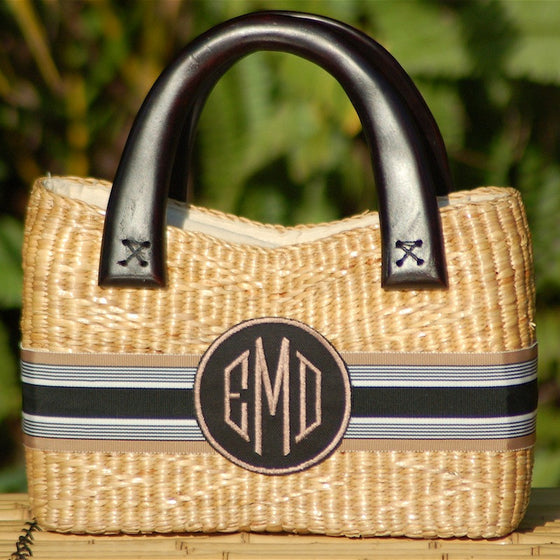 Beverly Basket Bag Monogrammed