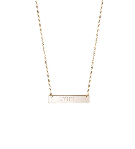 Personalized Small Engraved Bar Necklace