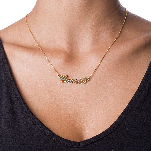 Gold Nameplate Necklace-Small