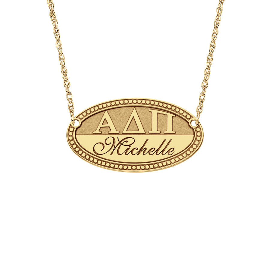 Greek Sorority Name Necklace gold