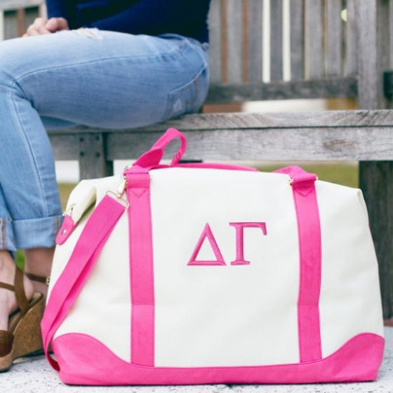 Greek Sorority Canvas Weekender Bag