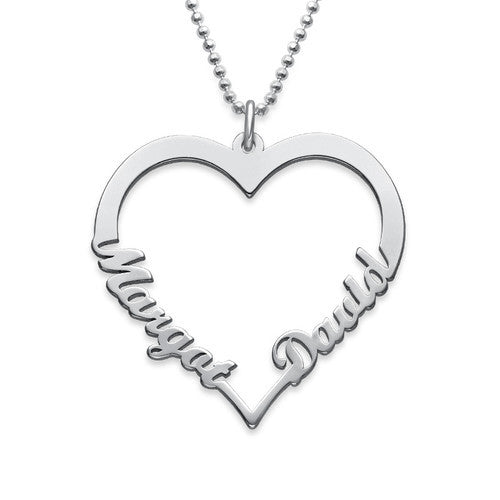 Two Name Heart Necklace 3