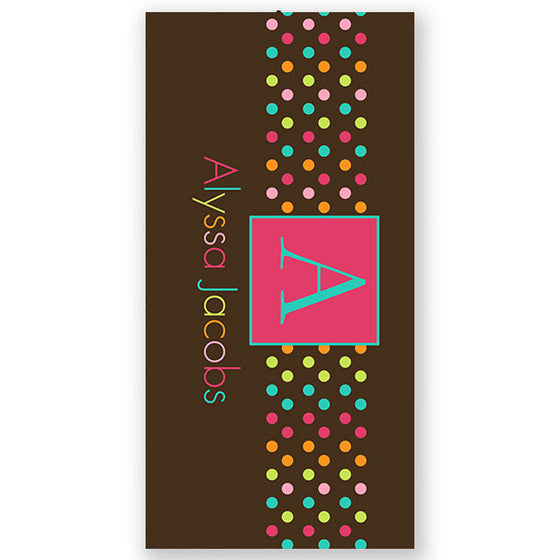 Personalized Beach Towel Sugary Sweet
