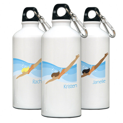 Personalized Water Bottle Swimmer Gal