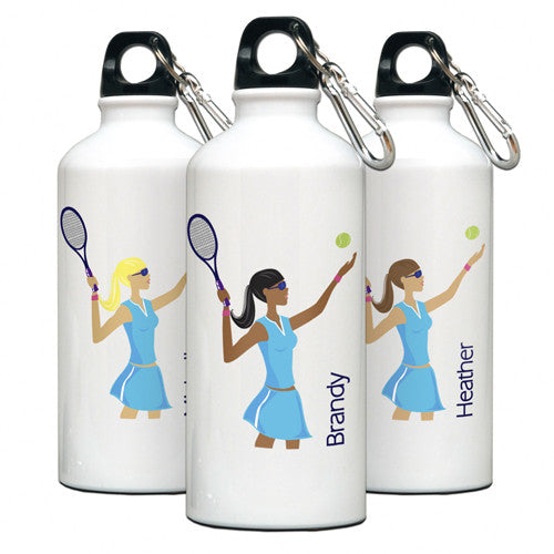 Personalized Water Bottle Tennis Gal
