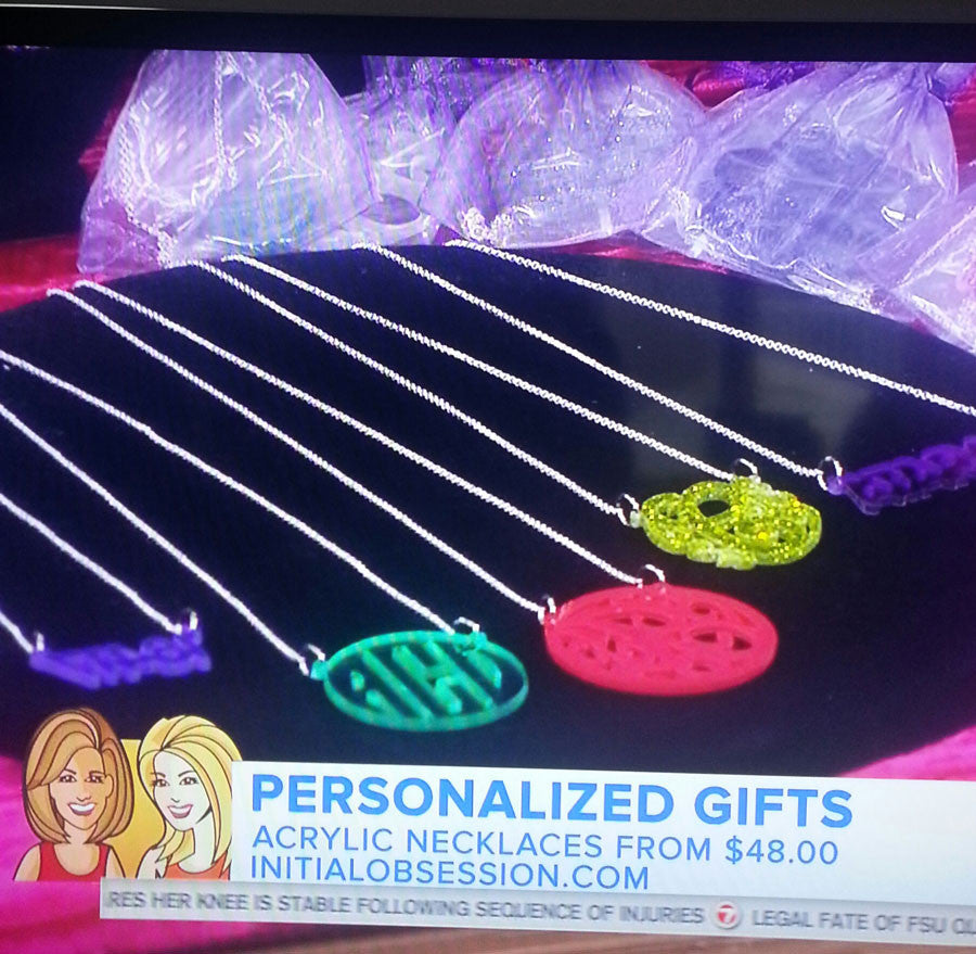 As Seen On The Today Show Acrylic Monogram Jewelry