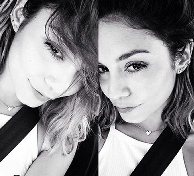 Vanessa Hudgens wearing the mini heart choker 3