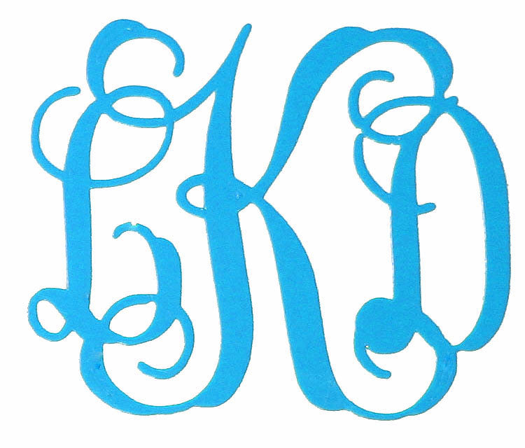 Monogram Decal 3 Inch