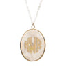 Vineyard Oval Acrylic Monogram Necklace