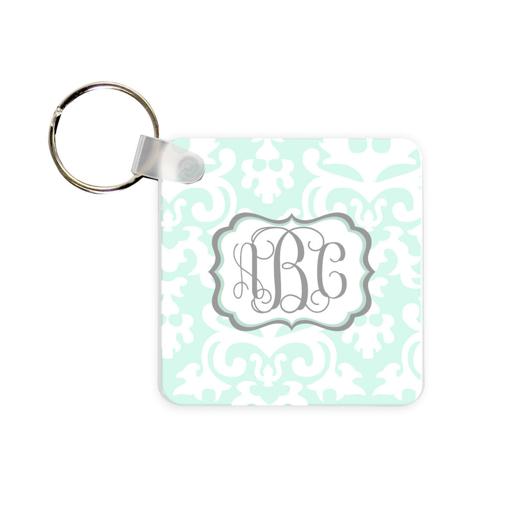 Monogram Key Chain - Damask
