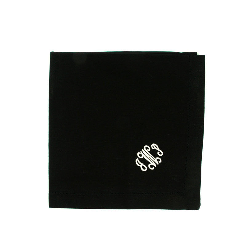 Personalized Dinner Napkins Black