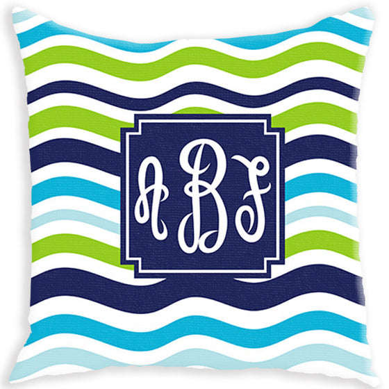 Monogram Pillow - Waves