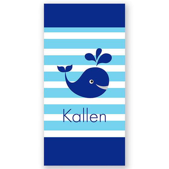 Personalized Beach Towel Whale