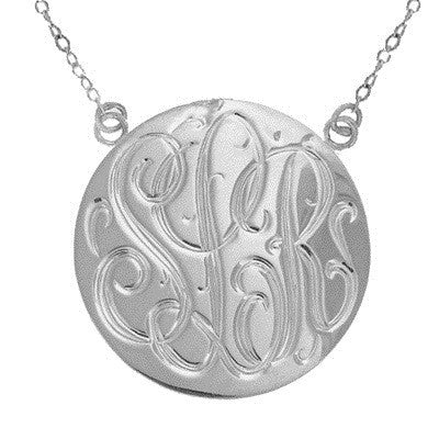 Sterling Silver Hand Engraved Necklace Split Chain