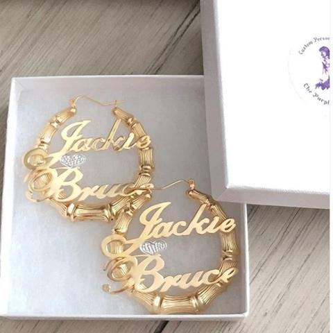 Gold Monogram Necklaces