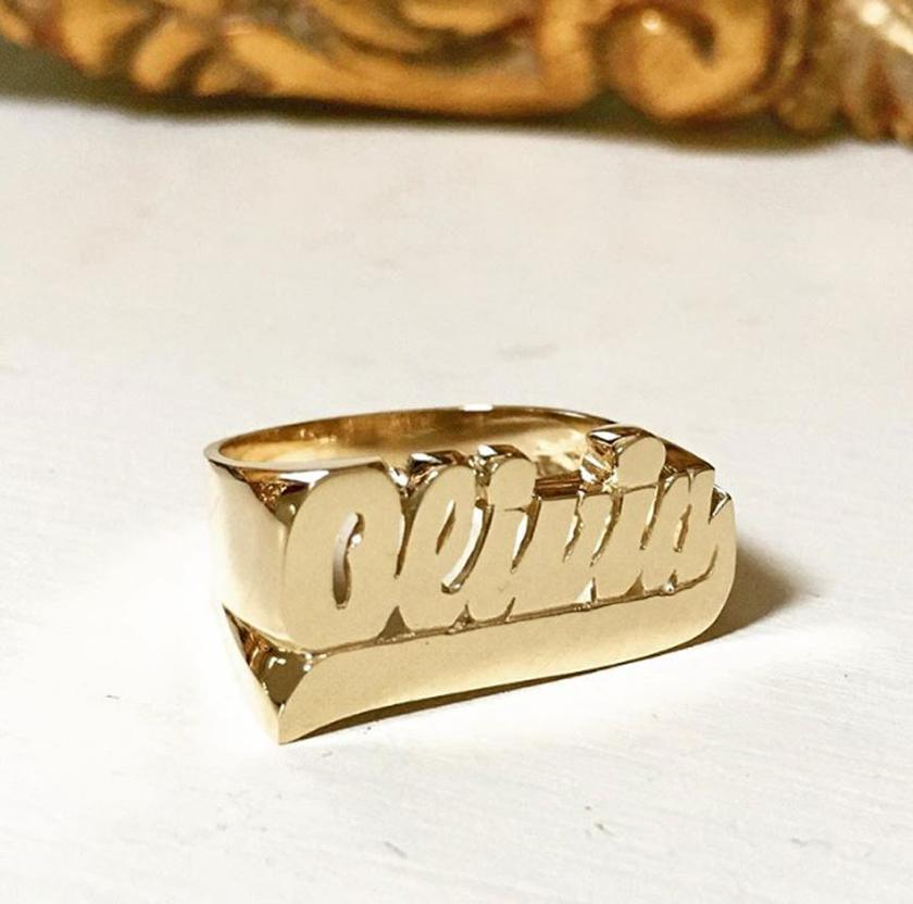 Personalized Gold Rings