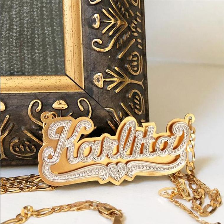 Silver Monogram Necklaces