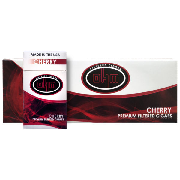 OHM Cherry Filtered cigars - SimplyEpicSmokes