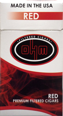 OHM Red Filtered cigars pack - SimplyEpicSmokes